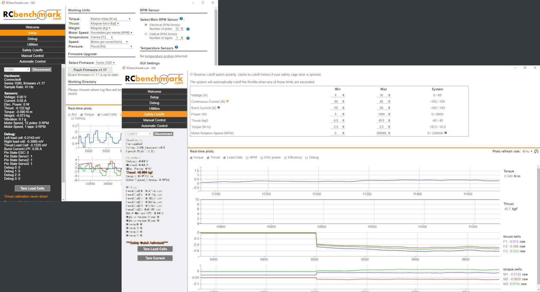 RCbenchmark data acquisition software